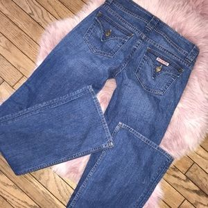 Hudson Vintage Wash Long Signature Boot Jeans